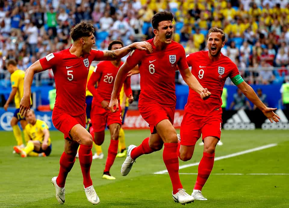 England through to World Cup Semifinals after beating Sweden 2-0 in Samara