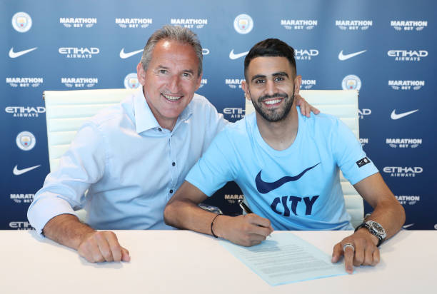 Riyad Mahrez joins Premier League Champions Manchester City