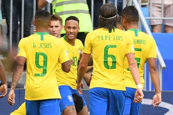 Neymar and Firmino goals send Brazil into World Cup quarter-finals