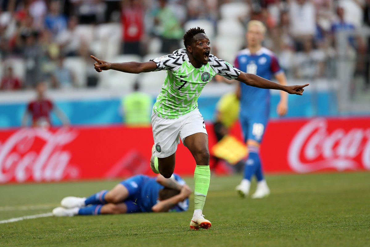Ahmed Musa's 'beautiful' finish vs Iceland named 8th best World Cup goal