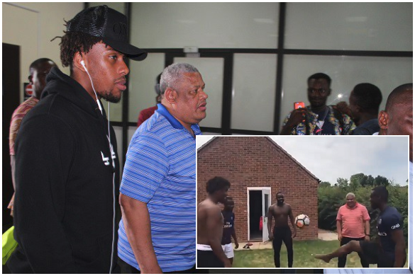 Dad got Sauce! Alex Iwobi and his Father, Chuba show keepie-ups Skills