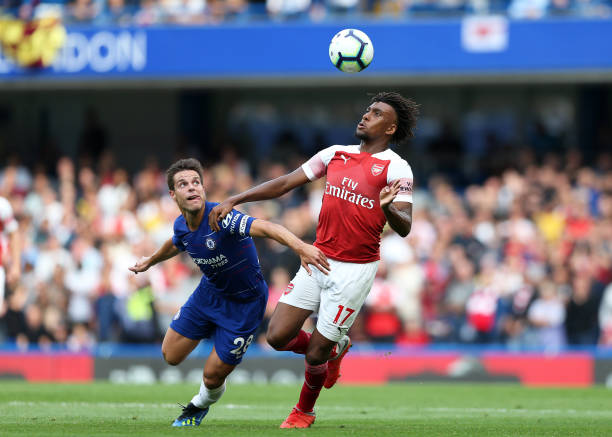 Chelsea 2-2 Arsenal: Iwobi levels up for Gunners [HT]