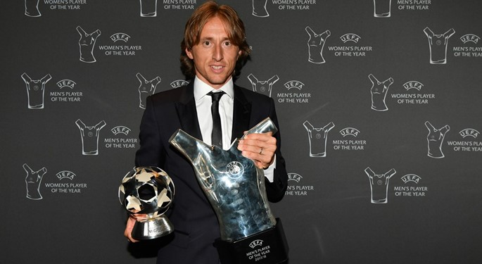 Modric wins UEFA Mens player of the year award