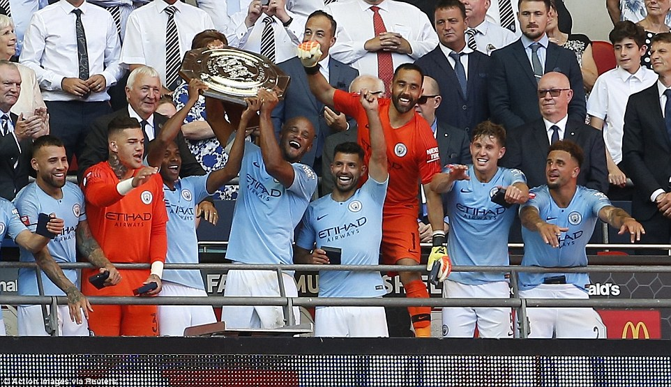 EPL Champions Man City beat Chelsea 2-0 to lift 2018 Community Shield