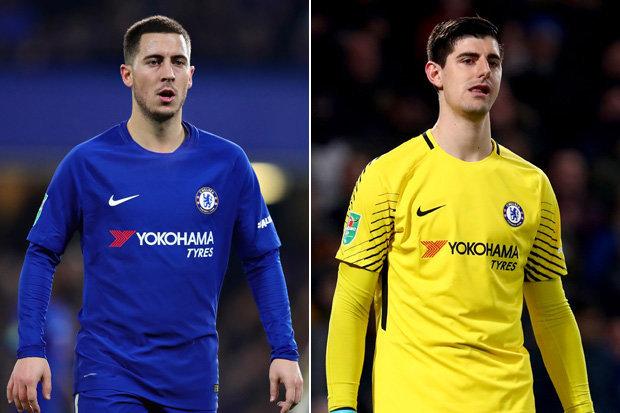 Chelsea's wantaway stars Hazard, Courtois set for talks with Sarri