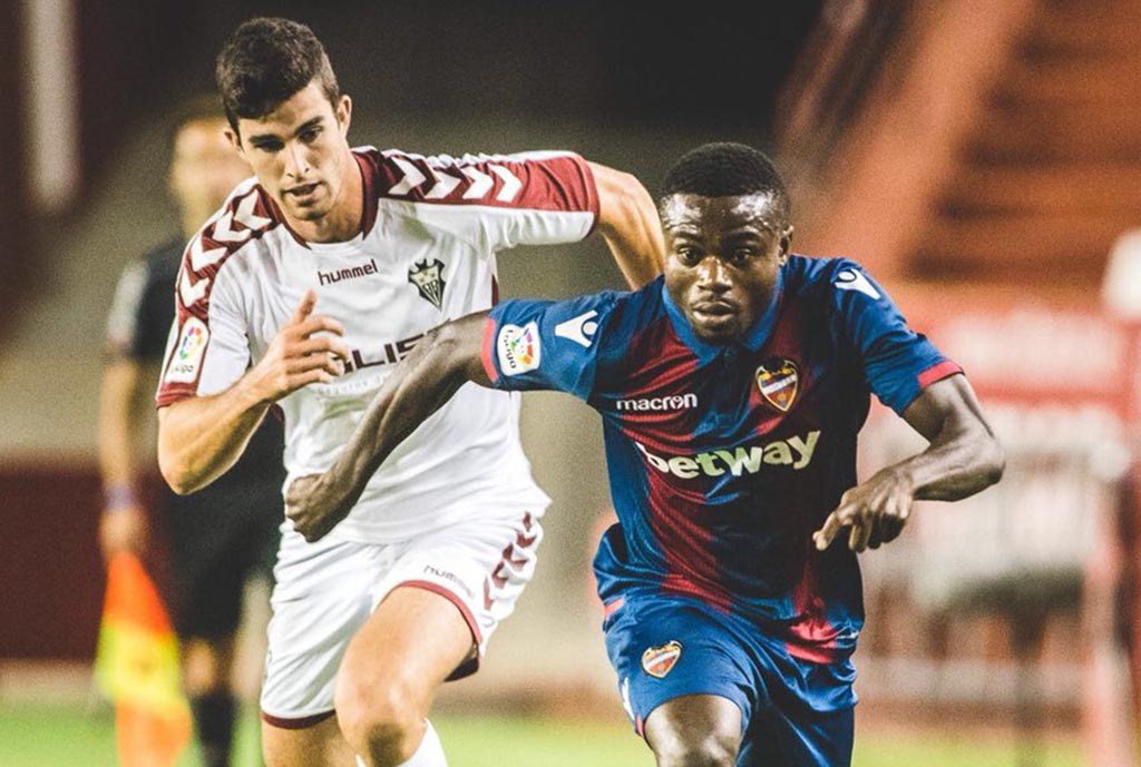 Moses Simon thrilled to make winning Levante debut