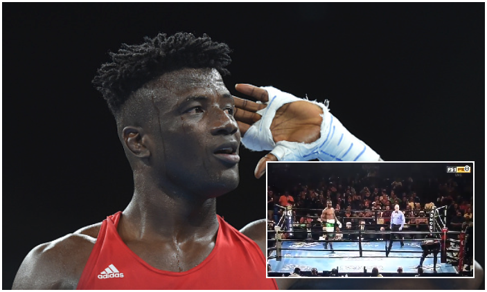 Watch: Efe Ajagba sends American Opponent Fleeing from the Ring