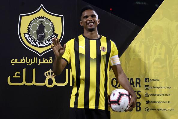 Qatar SC present new signing Samuel Eto'o as Club Captain