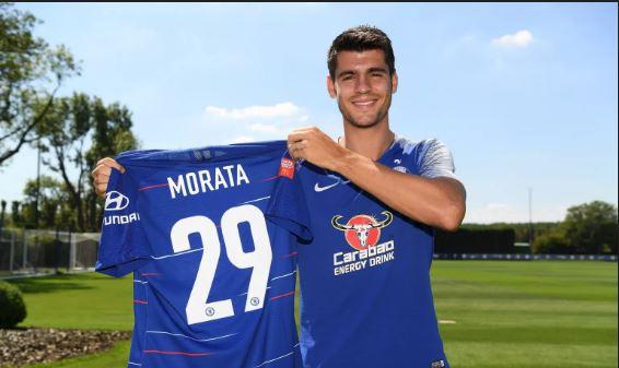 Just in! Alvaro Morata drops Chelsea's No. 9 shirt
