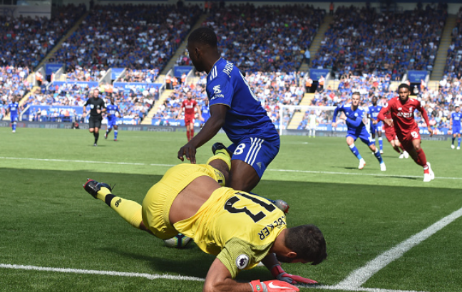Iheanacho purnishes £67m Goalkeeper Allison in Leicester's 1-2 loss to Liverpool