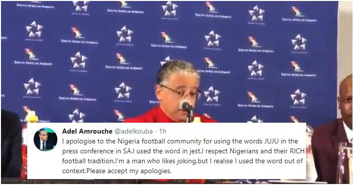 Libya Coach Adel Amrouche Apologizes for JUJU comments