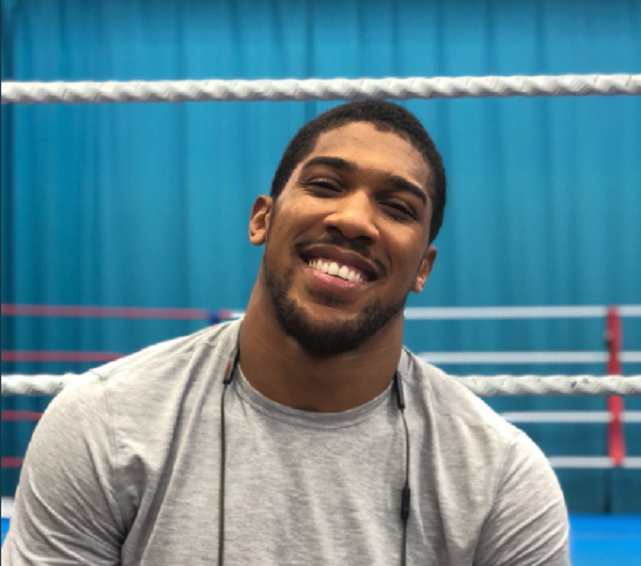 Anthony Joshua shares adorable throwback picture with Nigerian Mom