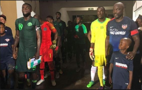 President George Weah makes surprise comeback for Liberia against Nigeria [Watch]