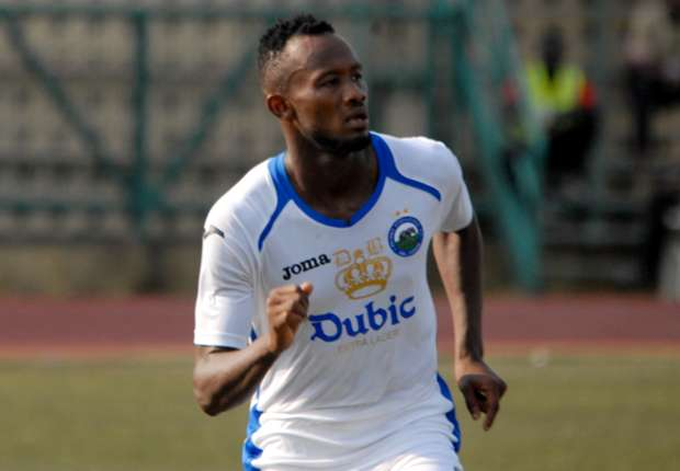 Enyimba striker Mfon Udoh surprised at Super Eagles call up