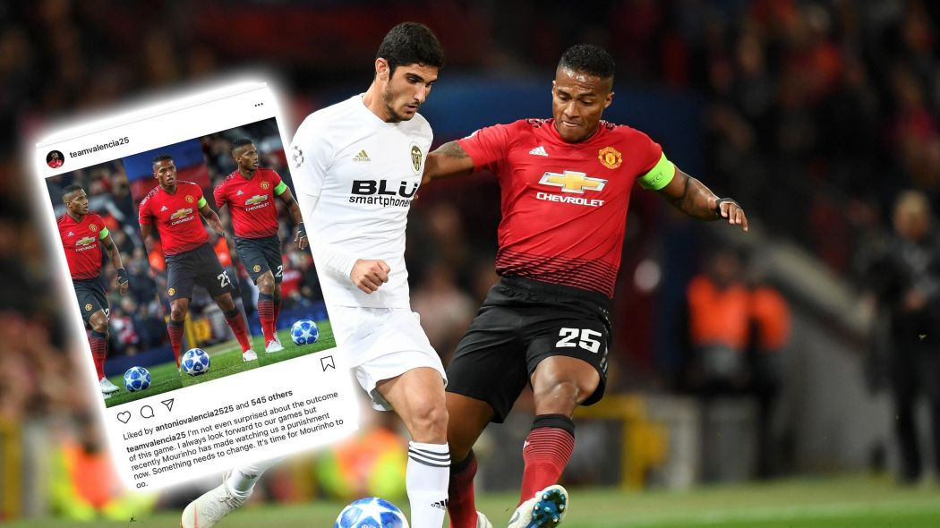 Man United captain Valencia apologises for liking anti-Mourinho Instagram post