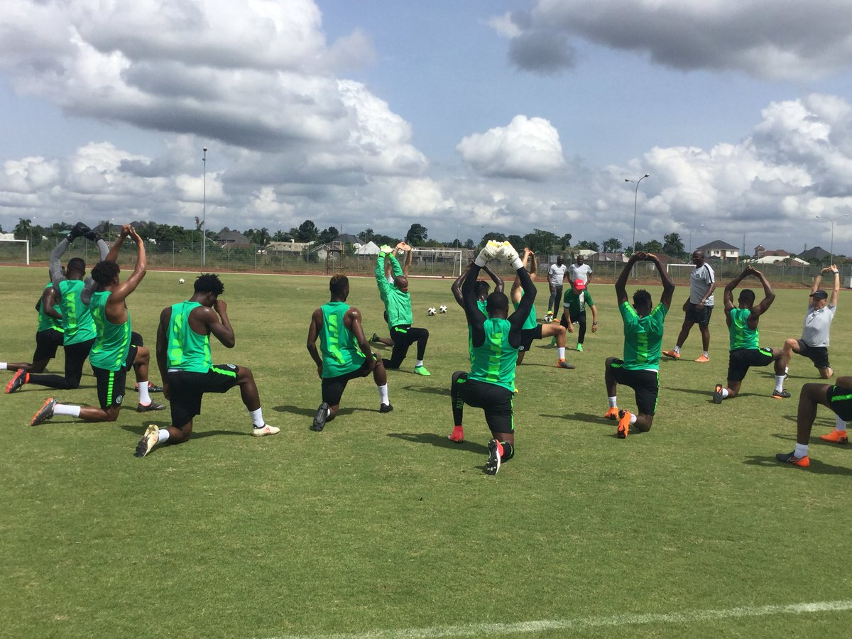 Exclusive pictures from Super Eagles Camp, Onazi, Aina with new hair styles