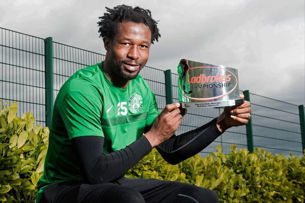 Efe Ambrose wins Hibernian Player of the Month award