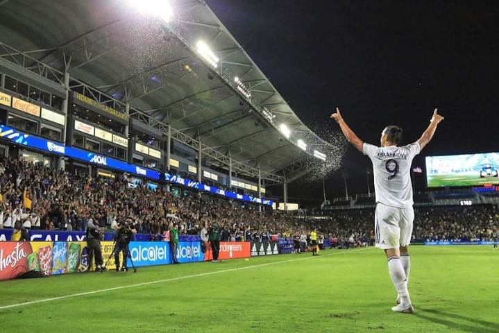 Like a God! LA Galaxy honors Zlatan on his 37th Birthday (See Video)