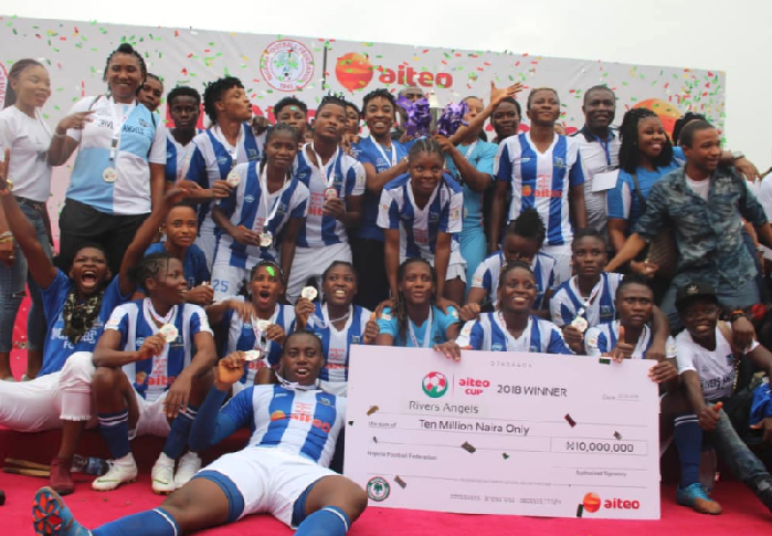 Try Again! Okon rubs it in after Rivers Angels Aiteo Cup Triumph over Ibom Angels