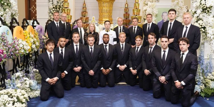 Leicester City players attend late owner Vichai's funeral