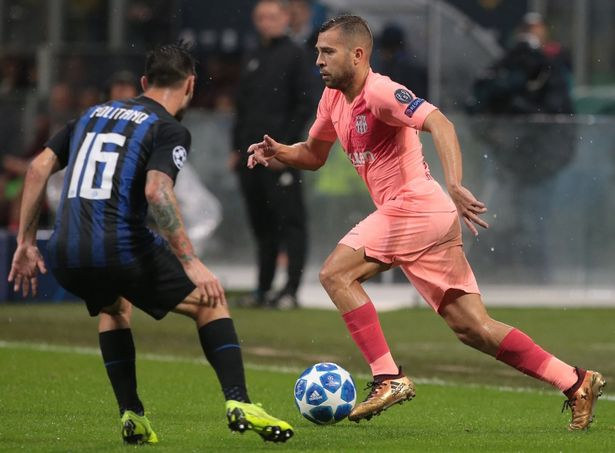 Barcelona star Jordi Alba's house burgled during Inter clash