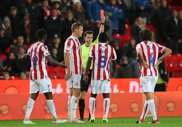 Etebo bags first career red card in Stoke city win