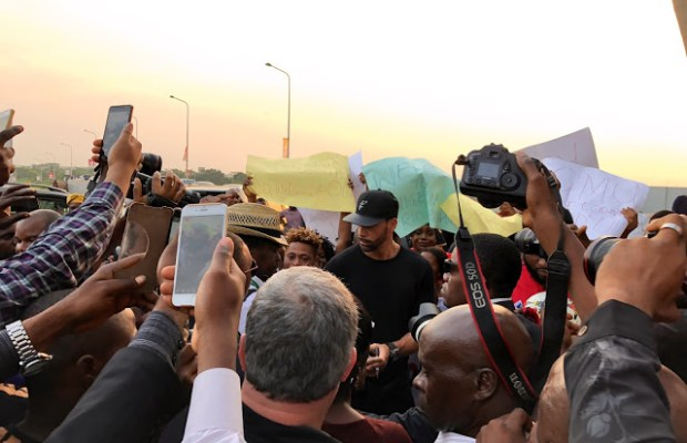 Rio Ferdinand Arrives In Lagos For Guinness Fan Tour
