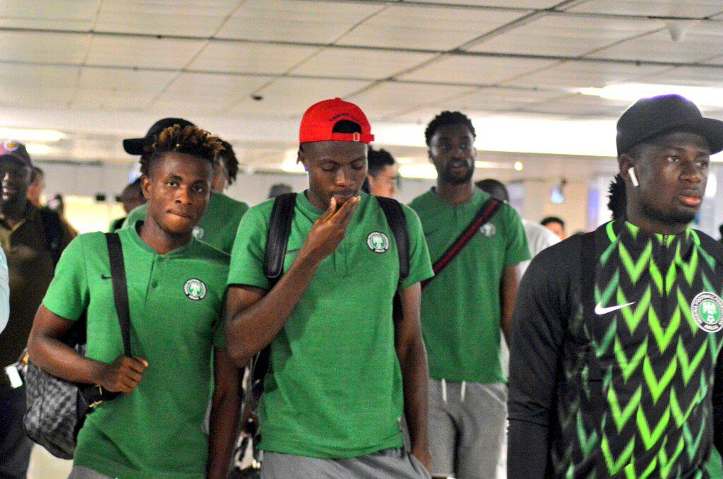 Super Eagles arrive South Africa for 2019 AFCON Qualifier