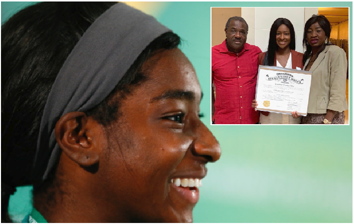 Books over Ball ! Courtney Dike missed AWC, but graduates with Public Accountant License