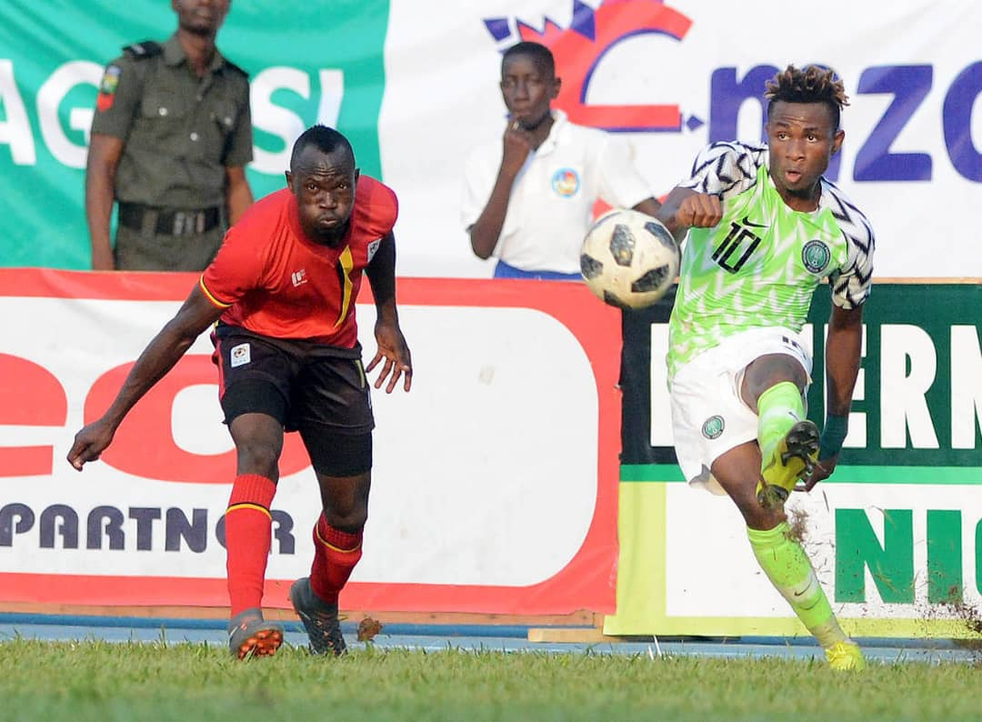Chukwueze stars as 'Stubborn' Uganda hold Eagles in Asaba