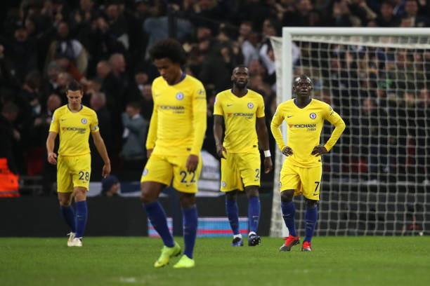 Chelsea lose unbeaten league record in 3-1 defeat to Spurs at Wembley