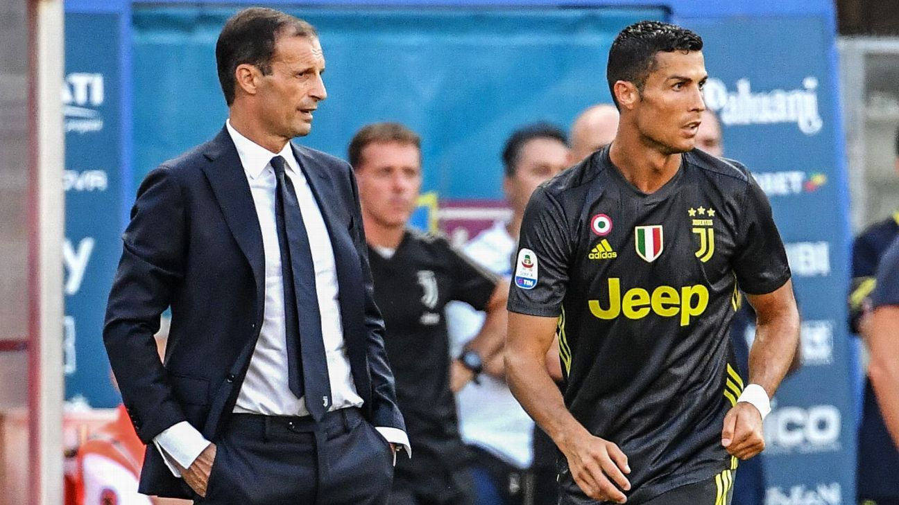 Ronaldo will end goal drought against Man United – Max Allegri