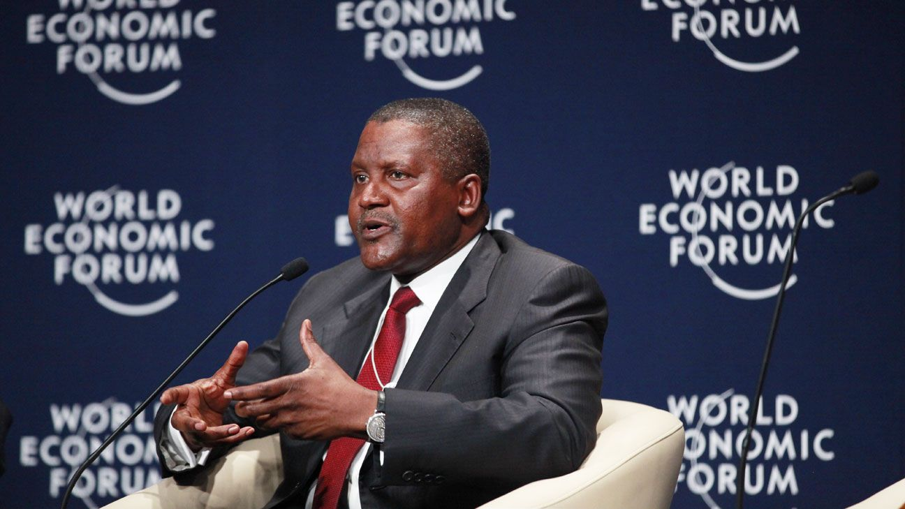 Africa's richest Aliko Dangote ready to buy a Club, rules out Arsenal