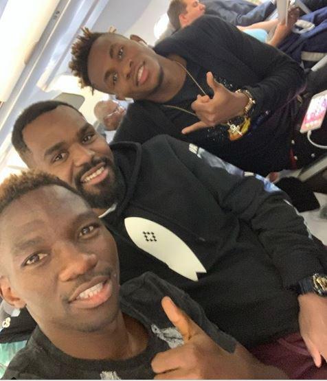 Omeruo, Chukwueze and Idowu meet on board, to hit Eagles Asaba camp on Tuesday