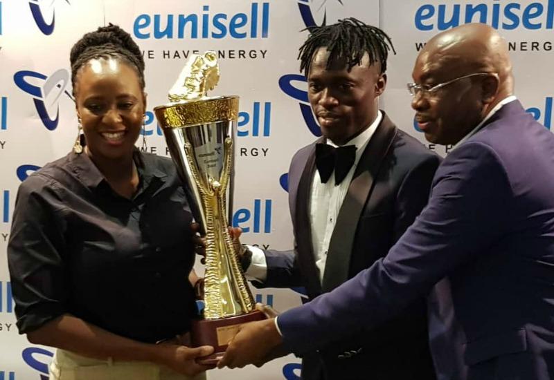 Junior Lokosa receives Eunisell's N3.8M Boot Award