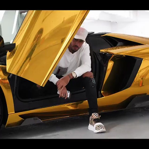 Aubameyang celebrates christmas in style with N125M gold Lamborghini
