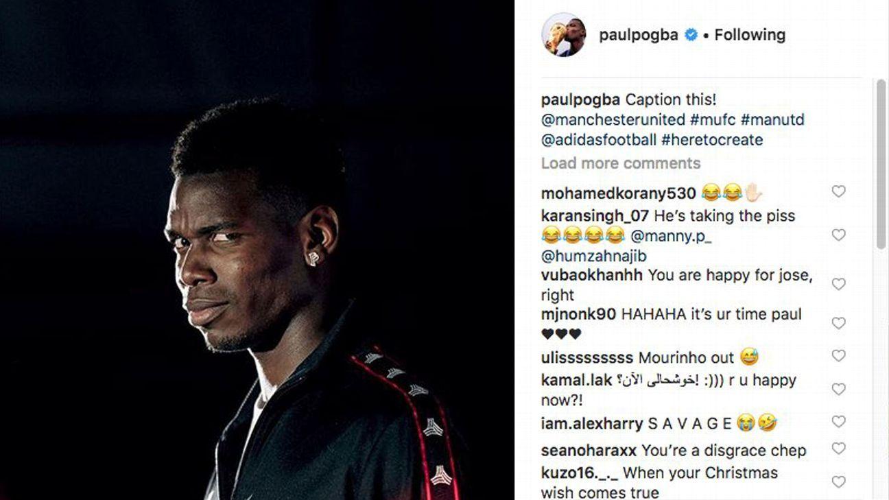 'Caption this': Pogba deletes social media post mocking sacked Boss Mourinho