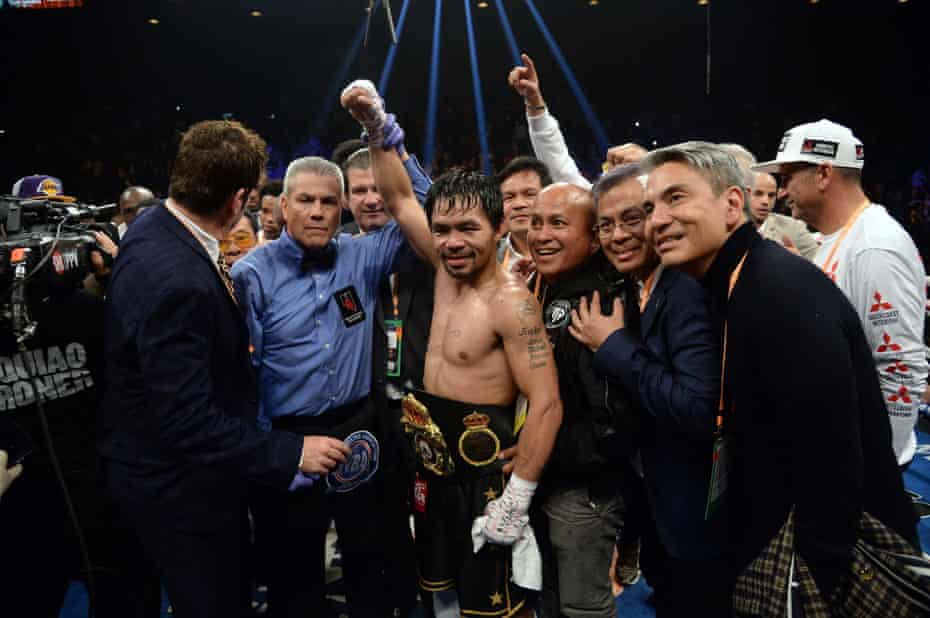 At 40! Boxing 'Senator' Pacquiao beats Adrien Broner on points to retain welterweight title
