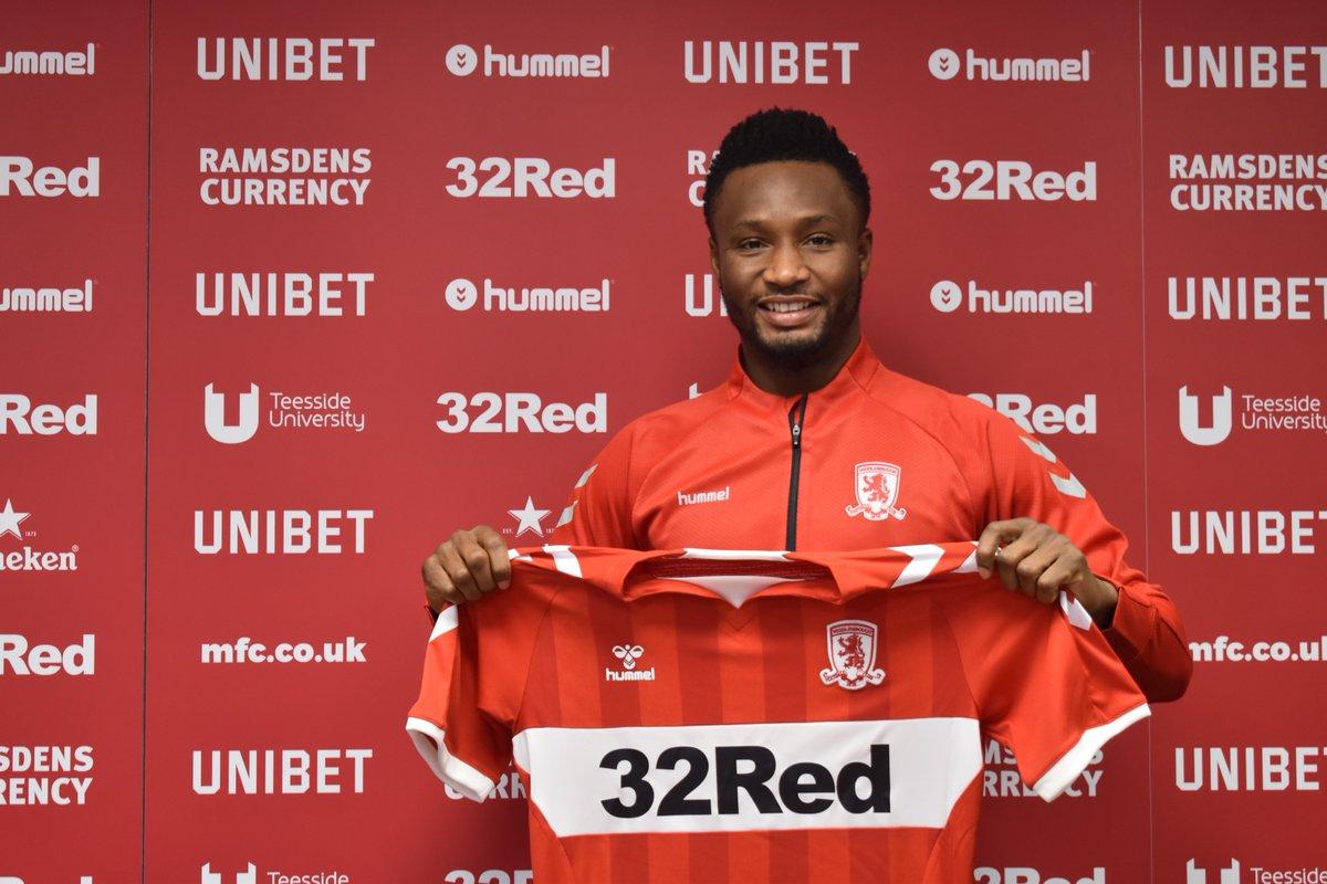 OFFICIAL – John Obi Mikel joins Middlesbrough