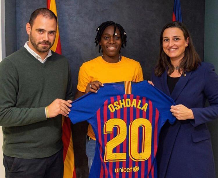 Asisat Oshoala joins Barcelona