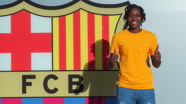 Oshoala not in perfect condition to play yet, Says Barca coach Lluis Cortes
