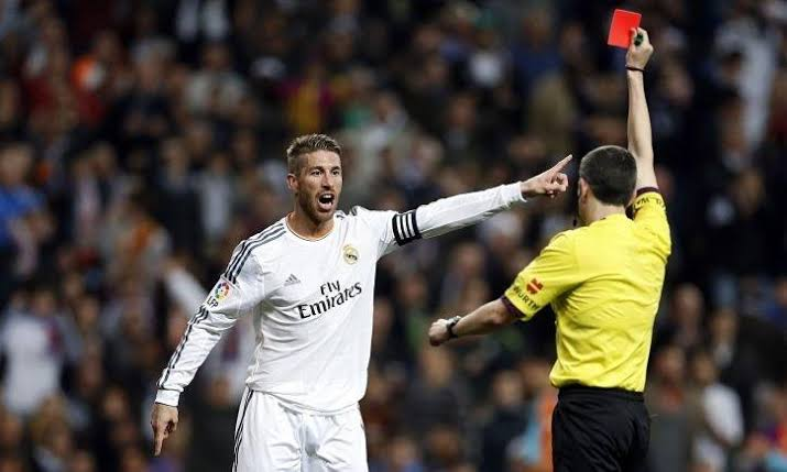 Sergio Ramos sets European 25 red cards record in Real Madrid defeat to Girona