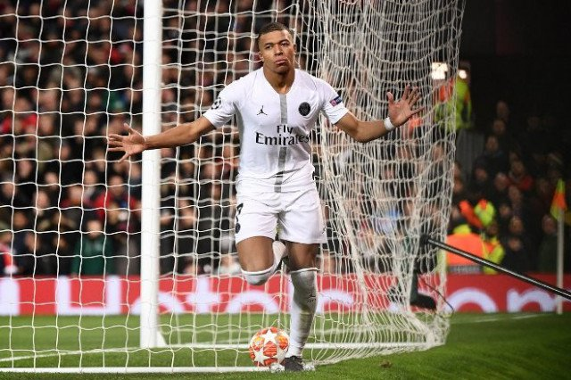Mbappe matches Ronaldo's Champions League feat with goal vs Man United