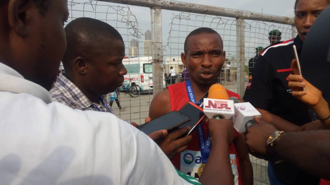 Nigerian Marathon Champion Gideon Goyet insists 'rivalry motivates him'