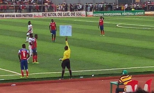 See what this Fourth Official produced during NPFL Match in Okigwe