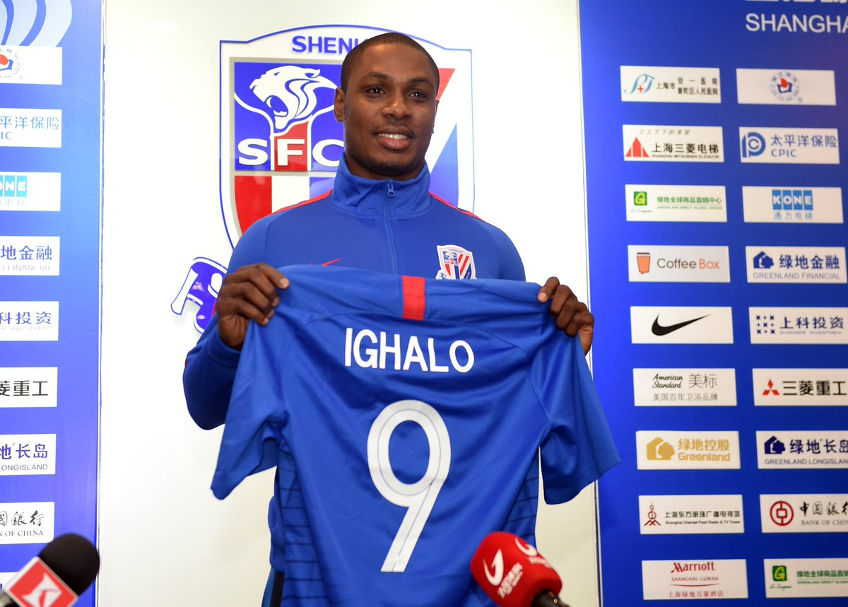 Ighalo to wear Number 9 Jersey at Shanghai Shenhua