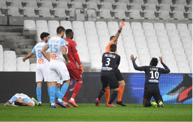 Samuel Kalu sees red in France