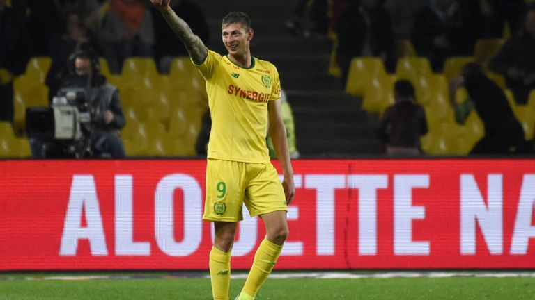 Nantes to retire the number 9 shirt in memory of late Emiliano Sala