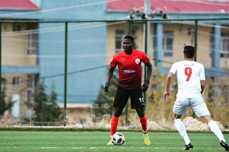 Nigerian striker in Jordan dedicates goal to fans