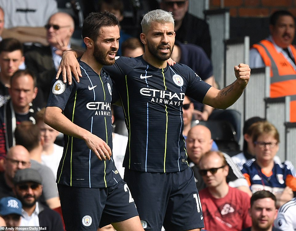 Silva and Aguero on target as Man City move to the top of the Premier League